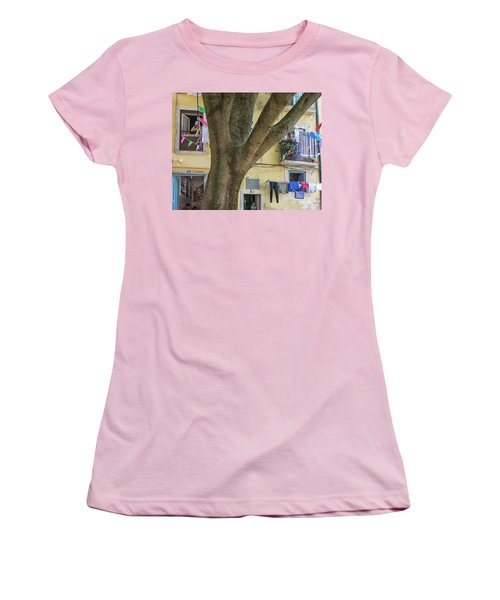 Behind The Tree Women's T-Shirt (Athletic Fit)