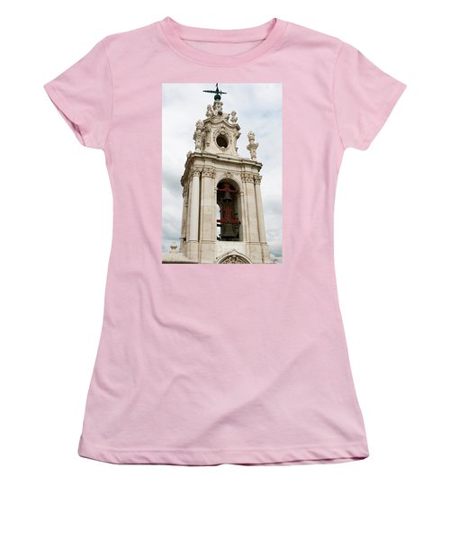 Bell Tower With Red   Women's T-Shirt (Athletic Fit)