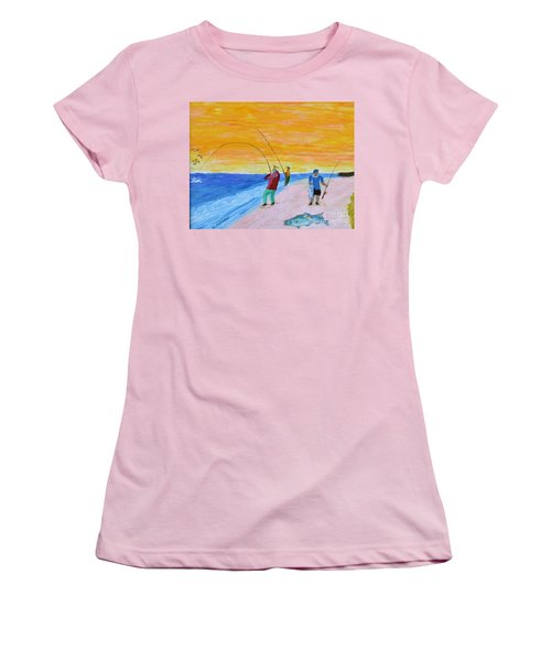 Big Blues At Herring Cove Women's T-Shirt (Athletic Fit)