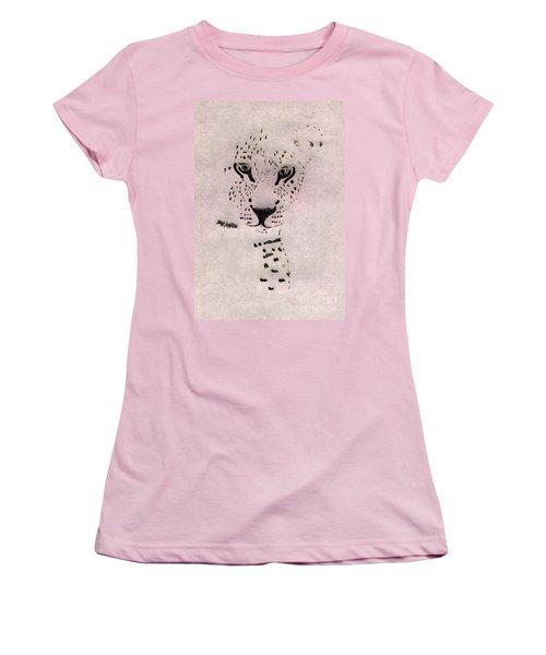 Big Cat Women's T-Shirt (Junior Cut) by Barbara Moignard