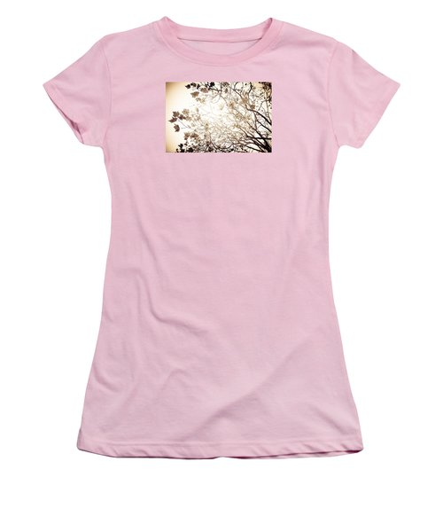 Women's T-Shirt (Junior Cut) featuring the photograph Blinding Sun by Lora Lee Chapman