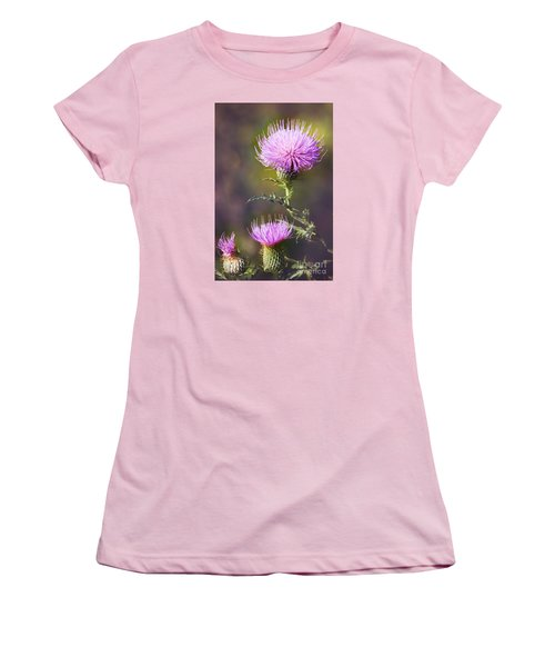 Blooming Thistle Women's T-Shirt (Athletic Fit)