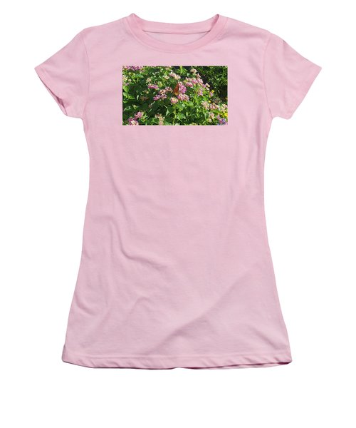 Blossoms And Wings #2 Women's T-Shirt (Junior Cut) by Rachel Hannah