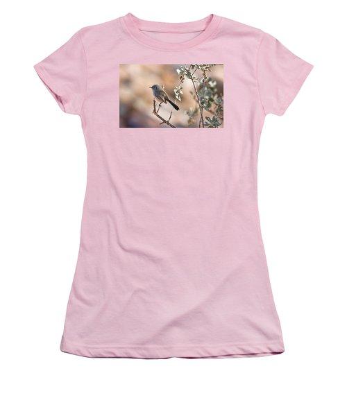 Women's T-Shirt (Junior Cut) featuring the photograph Black-tailed Gnatcatcher by Dan McManus