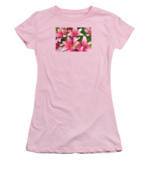 Women's T-Shirt (Junior Cut) featuring the photograph Blush Of The Blossoms by Randy Rosenberger