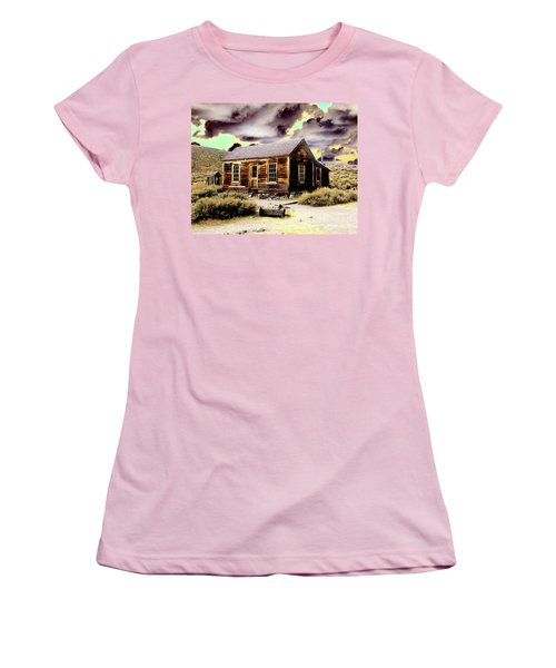 Women's T-Shirt (Junior Cut) featuring the photograph Bodie House by Jim and Emily Bush