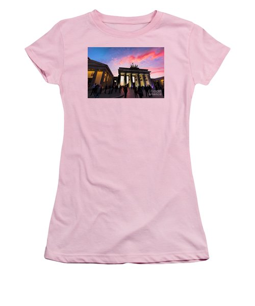Branderburg Gate Women's T-Shirt (Athletic Fit)