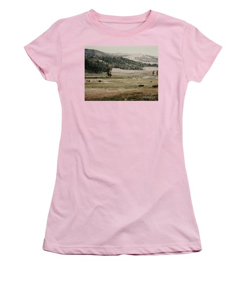 Buffalo Roam Women's T-Shirt (Athletic Fit)