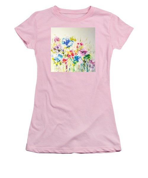 Burst Of Spring  Women's T-Shirt (Athletic Fit)