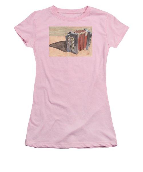 Button Accordion Women's T-Shirt (Athletic Fit)