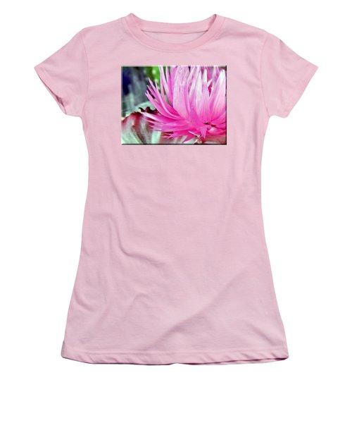 Cactus Flower Women's T-Shirt (Junior Cut) by Mikki Cucuzzo