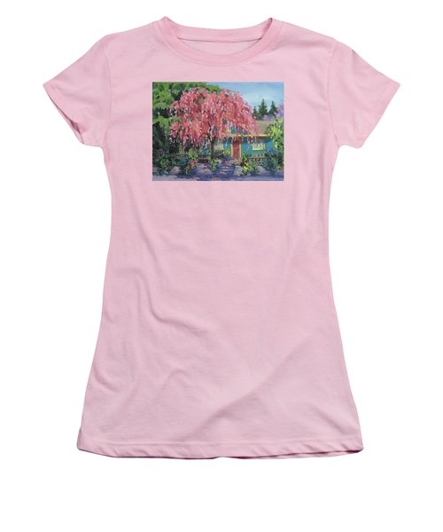 Candy Tree Women's T-Shirt (Junior Cut) by Karen Ilari