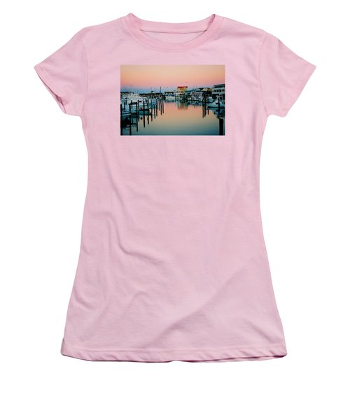 Women's T-Shirt (Junior Cut) featuring the photograph Cape May After Glow by Steve Karol