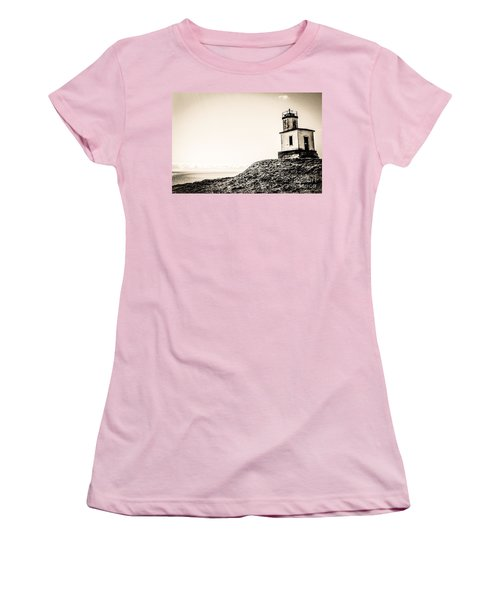 Cattle Point Lighthouse Women's T-Shirt (Junior Cut) by William Wyckoff