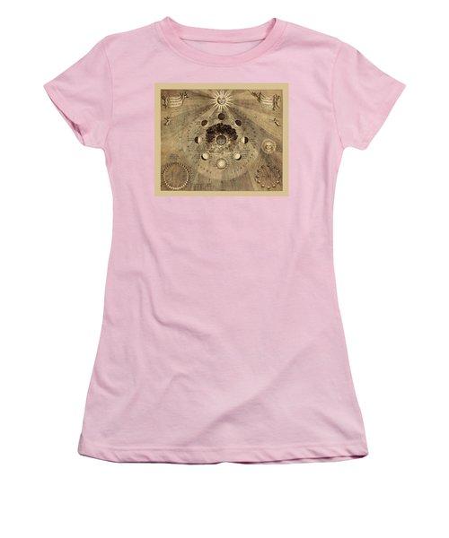 Celestial Map 1710b Women's T-Shirt (Junior Cut) by Andrew Fare