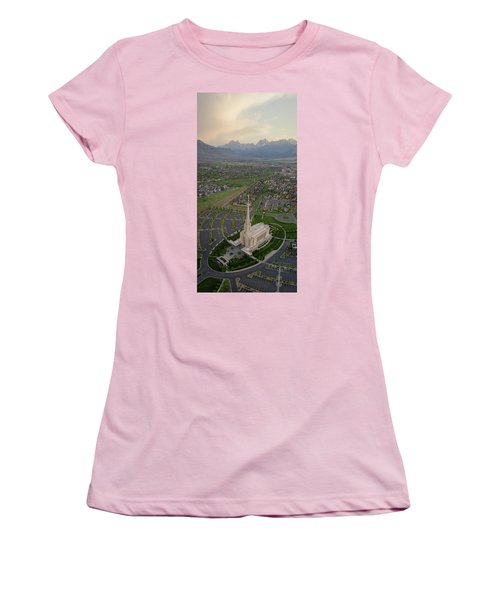 Women's T-Shirt (Athletic Fit) featuring the photograph Celestial Perspective by Dustin LeFevre