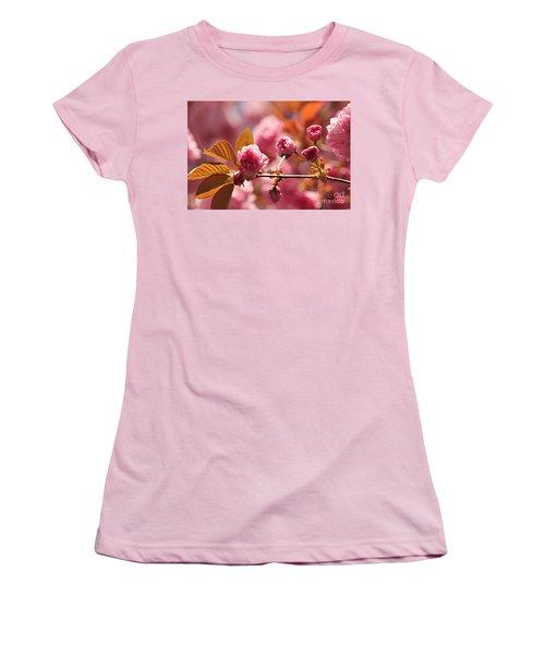 Cherry Blossoms Women's T-Shirt (Junior Cut) by Judy Palkimas