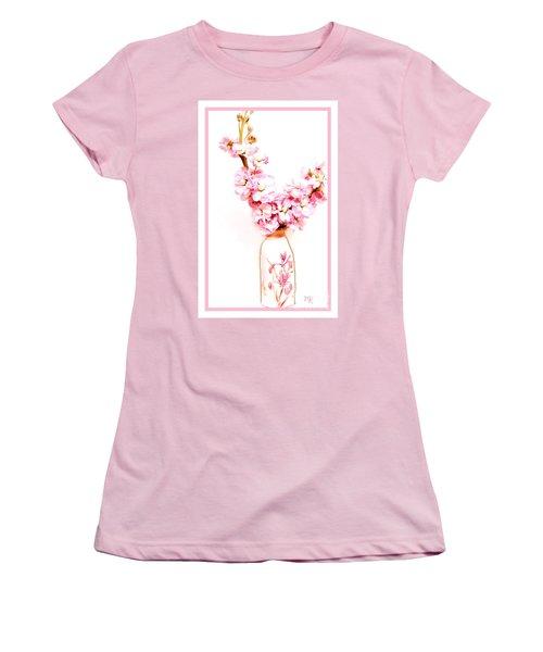 Women's T-Shirt (Junior Cut) featuring the digital art Chinese Bouquet by Marsha Heiken