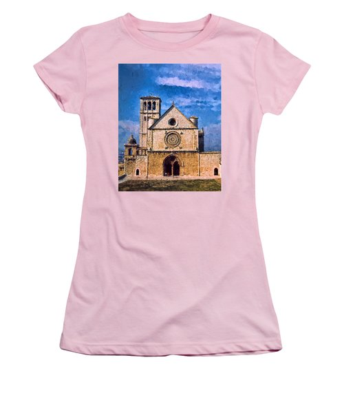 Church Of Assisi Women's T-Shirt (Athletic Fit)