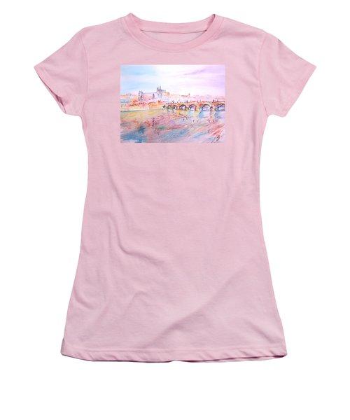 Women's T-Shirt (Junior Cut) featuring the painting City Of Prague by Elizabeth Lock
