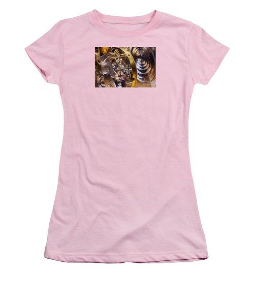 Clock Gears Women's T-Shirt (Athletic Fit)