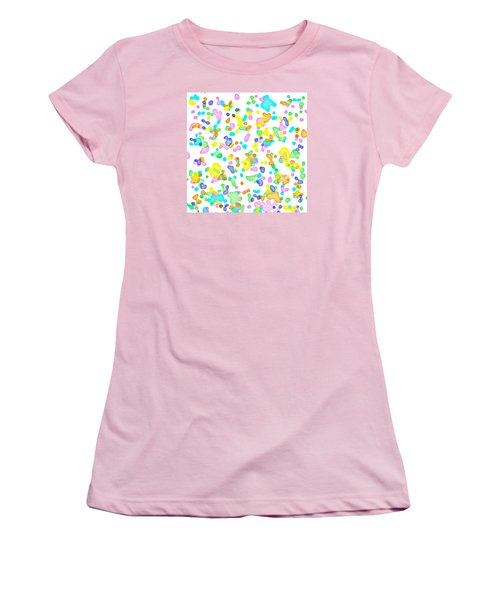 Color Blots Women's T-Shirt (Athletic Fit)
