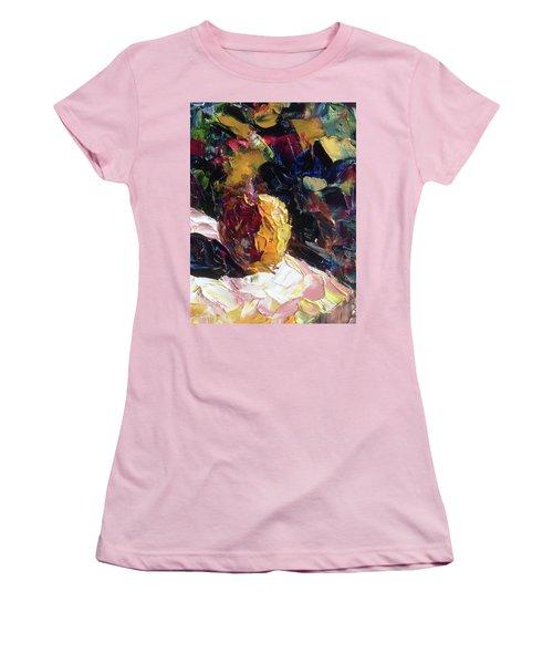 Color Volant Women's T-Shirt (Junior Cut) by Roxy Rich