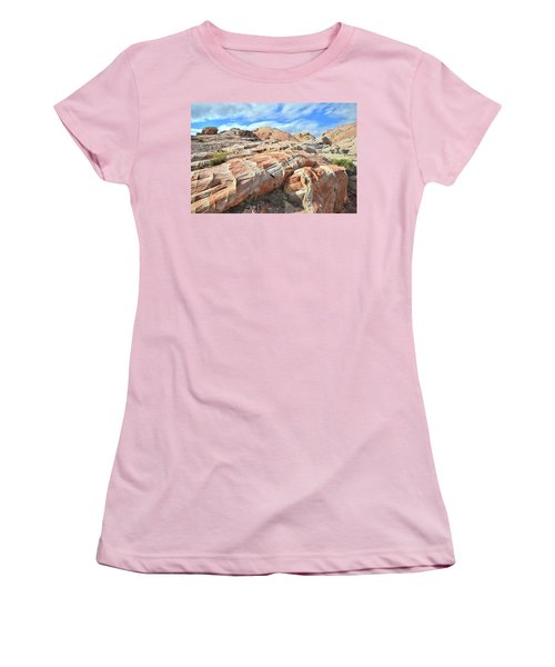 Concentric Color In Valley Of Fire Women's T-Shirt (Junior Cut) by Ray Mathis