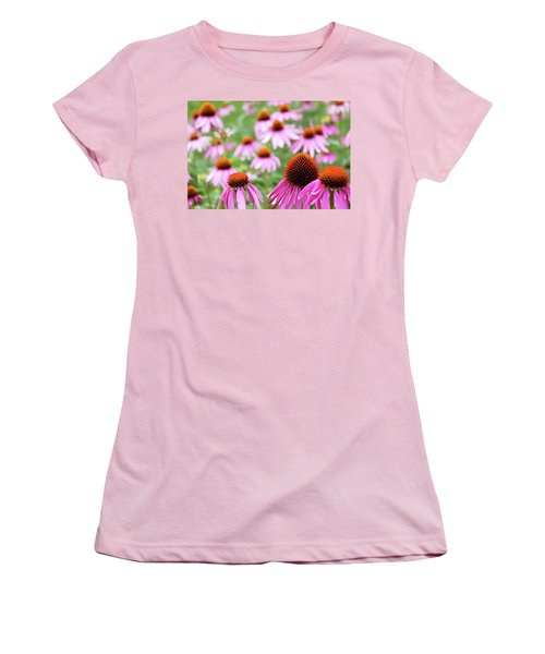 Women's T-Shirt (Junior Cut) featuring the photograph Coneflowers by David Chandler