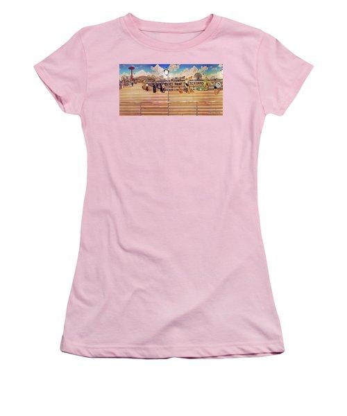 Coney Island Boardwalk Towel Version Women's T-Shirt (Athletic Fit)