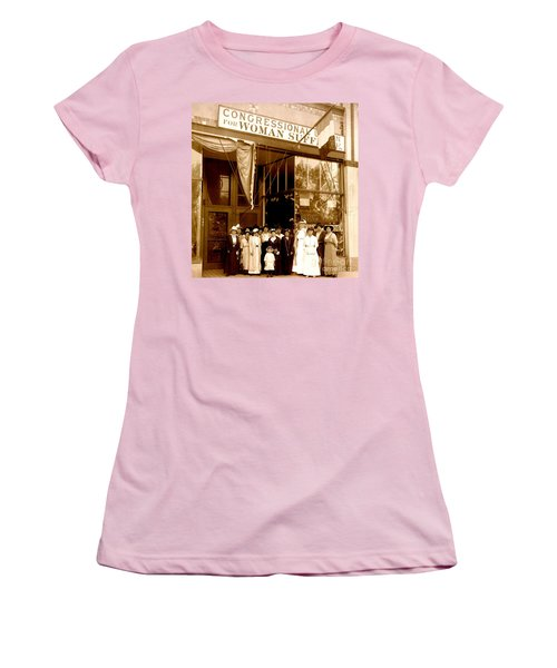Congressional Union For Woman Suffrage Colorado Headquarters 1914 Women's T-Shirt (Athletic Fit)
