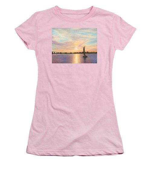 Coronado Bridge Sunset  B Women's T-Shirt (Athletic Fit)