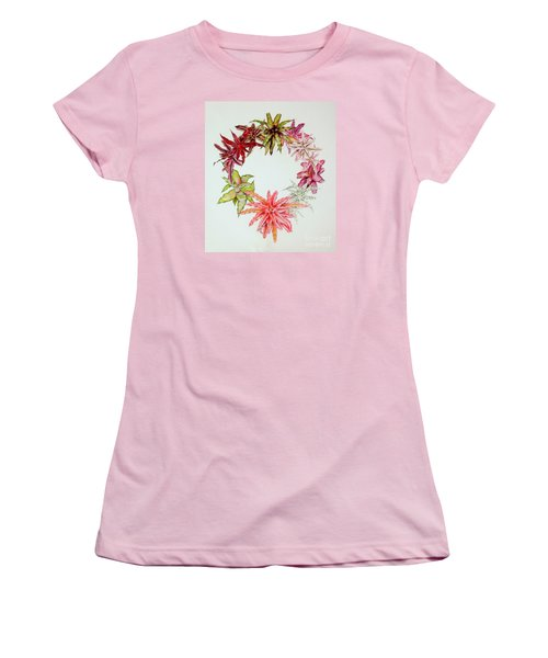 Cryptanthus Wreath Women's T-Shirt (Athletic Fit)