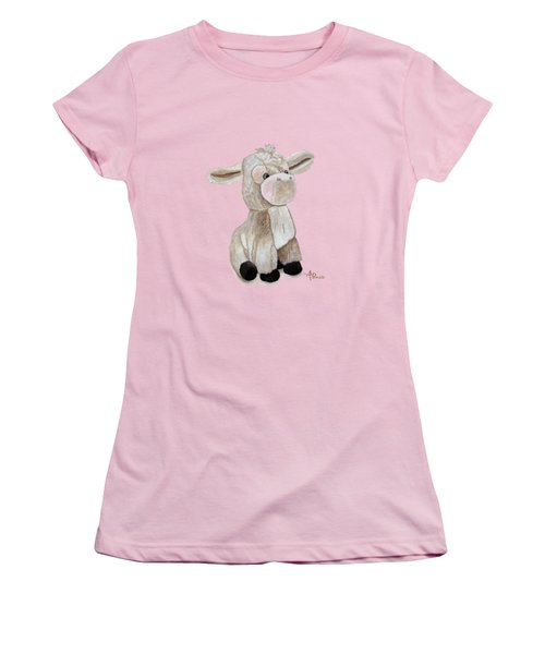Cuddly Donkey Watercolor Women's T-Shirt (Athletic Fit)