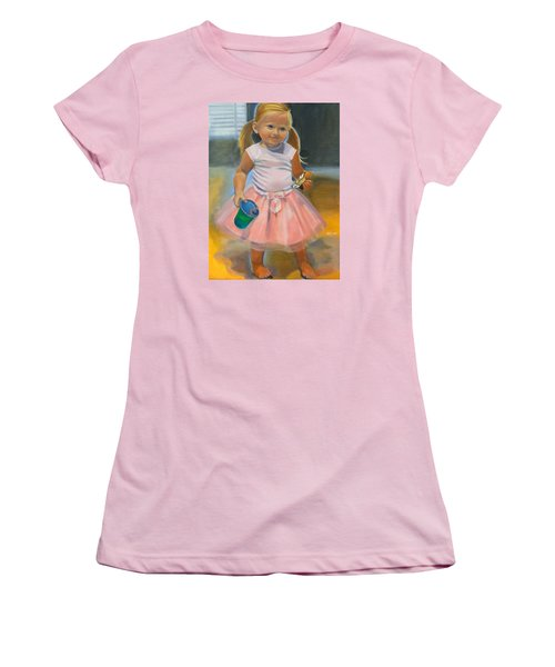 Dancer With Sippy Cup Women's T-Shirt (Junior Cut) by Kaytee Esser