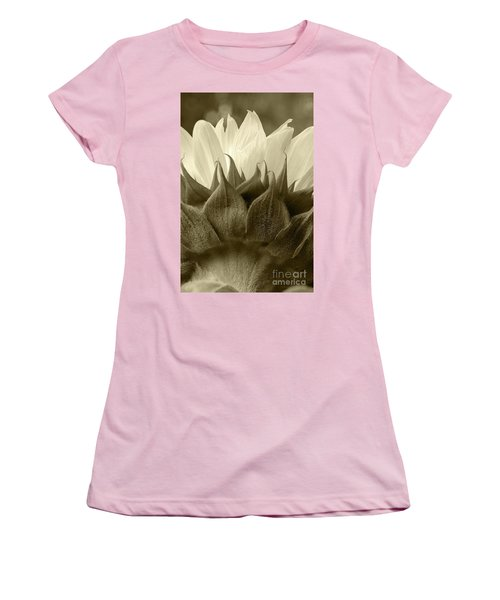 Women's T-Shirt (Junior Cut) featuring the photograph Dandelion In Sepia by Micah May