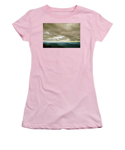 Dark Mountains Too Women's T-Shirt (Athletic Fit)