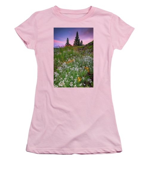 Women's T-Shirt (Athletic Fit) featuring the photograph Dawn At Height Of Land by Rick Berk
