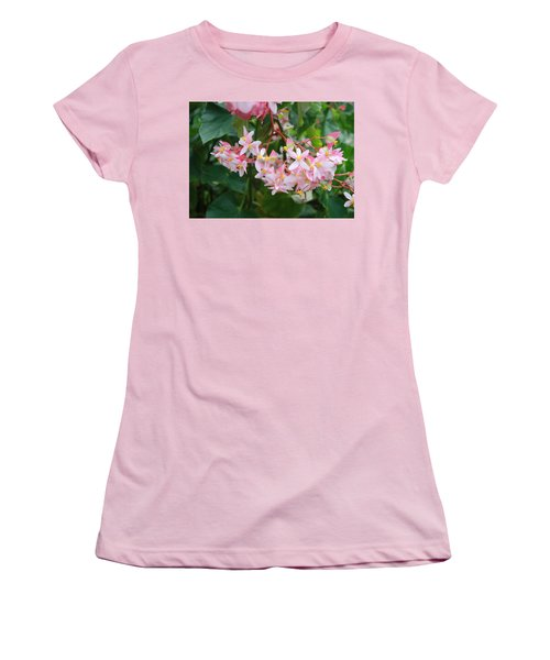 Delicate Flowers Women's T-Shirt (Junior Cut) by Karen Nicholson
