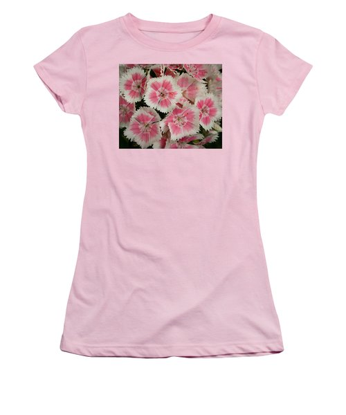 Women's T-Shirt (Athletic Fit) featuring the photograph Delightful Dianthus by Jean Noren