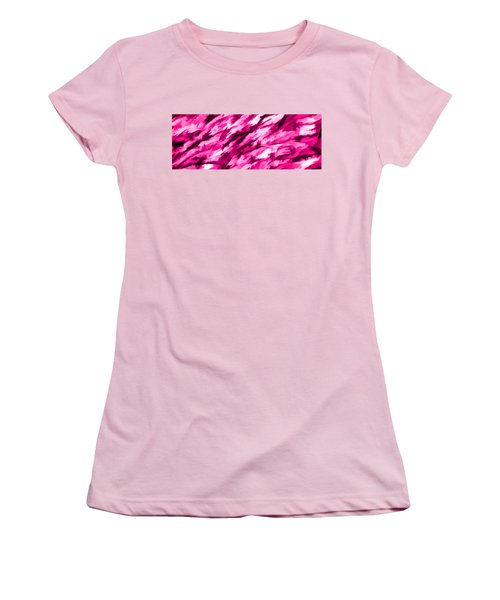 Designer Camo In Hot Pink Women's T-Shirt (Junior Cut) by Bruce Stanfield