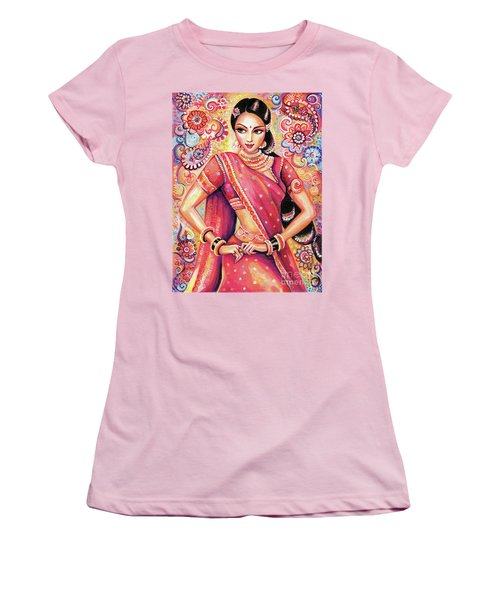 Women's T-Shirt (Junior Cut) featuring the painting Devika Dance by Eva Campbell