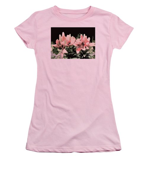 Digitalized Lilies Women's T-Shirt (Athletic Fit)