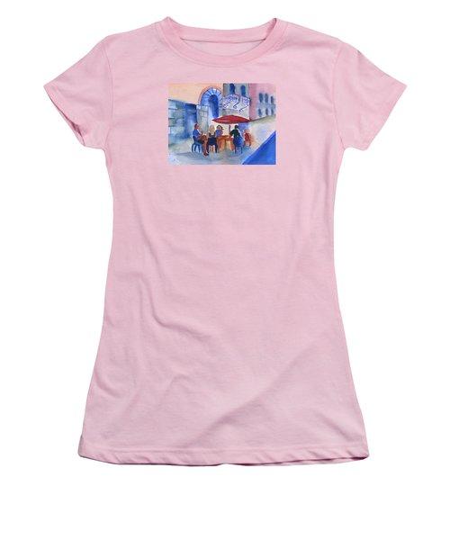 Dinner In Old San Juan Women's T-Shirt (Junior Cut) by Frank Bright
