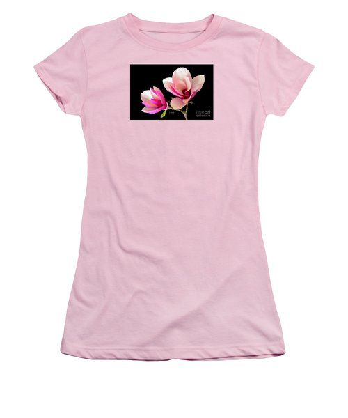 Double Magnolia Blooms Women's T-Shirt (Athletic Fit)