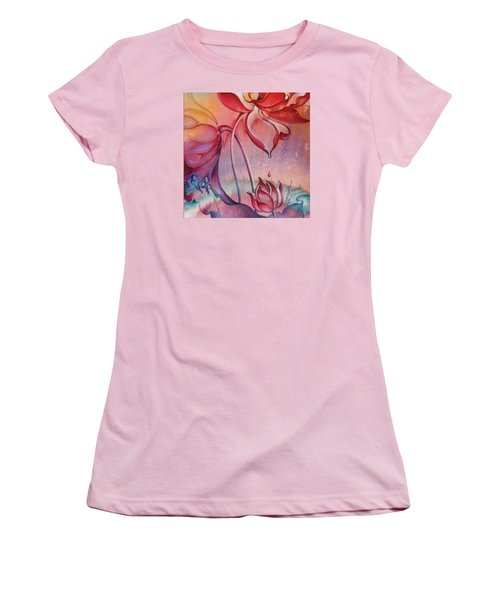 Women's T-Shirt (Junior Cut) featuring the painting Drop Of Love by Anna Ewa Miarczynska