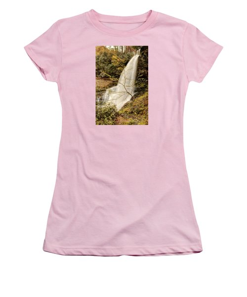 Dry Falls In North Carolina Women's T-Shirt (Junior Cut) by Penny Lisowski