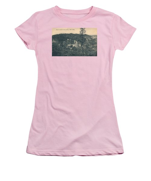 Women's T-Shirt (Junior Cut) featuring the photograph Dyckman Street At Turn Of The Century by Cole Thompson