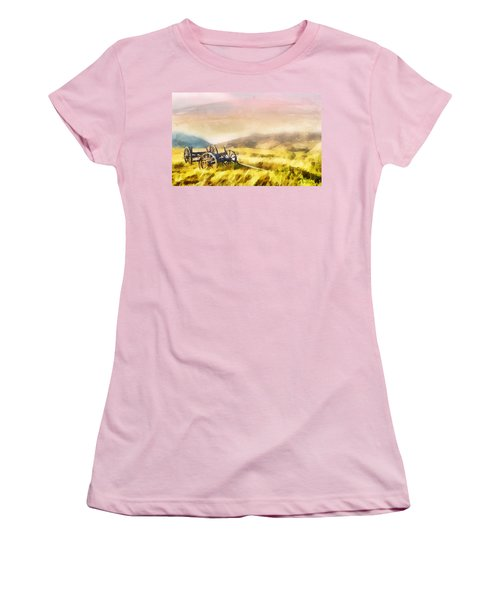 Women's T-Shirt (Junior Cut) featuring the painting Enduring Courage by Greg Collins