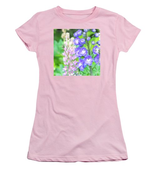 Women's T-Shirt (Junior Cut) featuring the photograph Escape To The Garden by Bonnie Bruno